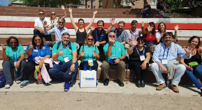 Hamburgo Centro Histórico en Español: Los Paraguas Azules Provided by Hamburgo a pie