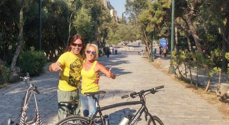 Athens Tour with Electric Bikes Provided by Thanasis Georgiopoulos