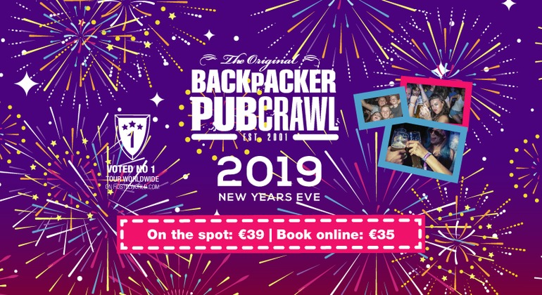 Budapest New Year's Eve Pubcrawl 2019 Provided by The Backpacker Pubcrawl